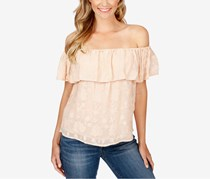 Lucky Brand Off-The-Shoulder Top, Blush