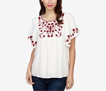 Lucky Brand Embroidered Top, Lucky White