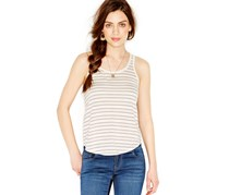 Lucky Brand Jeans Dotted Scoop Neck Tank,Natural