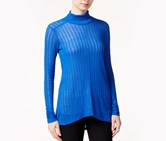 Lucky Brand High-Low Turtleneck Top, Surf
