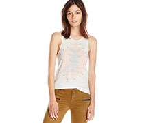 Lucky brand jeans stud-detail graphic tank nigori l