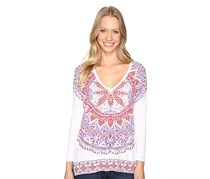 Lucky Brand Long-Sleeve Printed T-Shirt, Lucky White