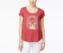 Lucky Brand Embellished Graphic T-Shirt, Earth Red