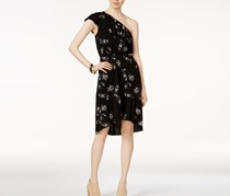 Lucky Brand Women's Botanical Ruffle Dress, Black