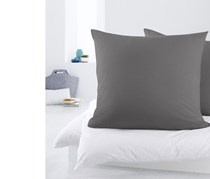 2 Jersey Pillowcases Set, Grey