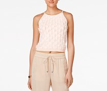 Bar III Sleeveless Fringe Top, Just Blush