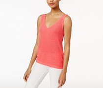 Bar Iii V-Neck Sweater Shell, Peony Coral