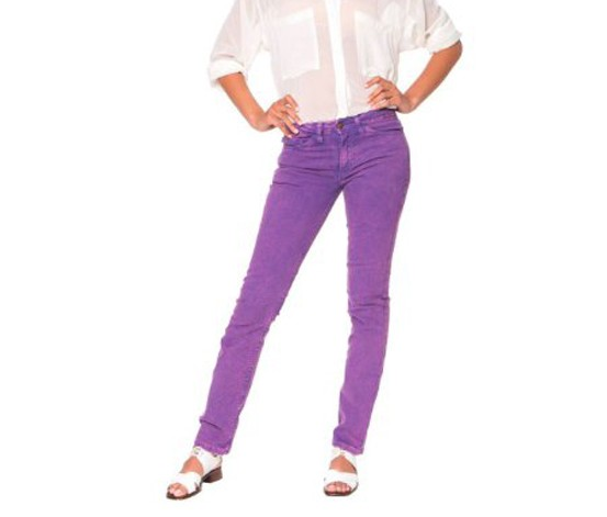 American Apparel Washed Stretch Pants, Purple