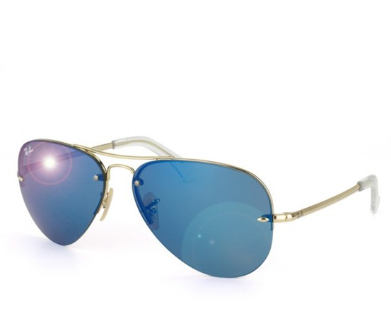 545476d2b9f Ray-Ban RB3449 001 55 59-14 Blue Mirror Sunglasses - Brands For