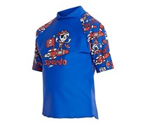 Speedo Little Boy's UV Rashguard, Essential Blue