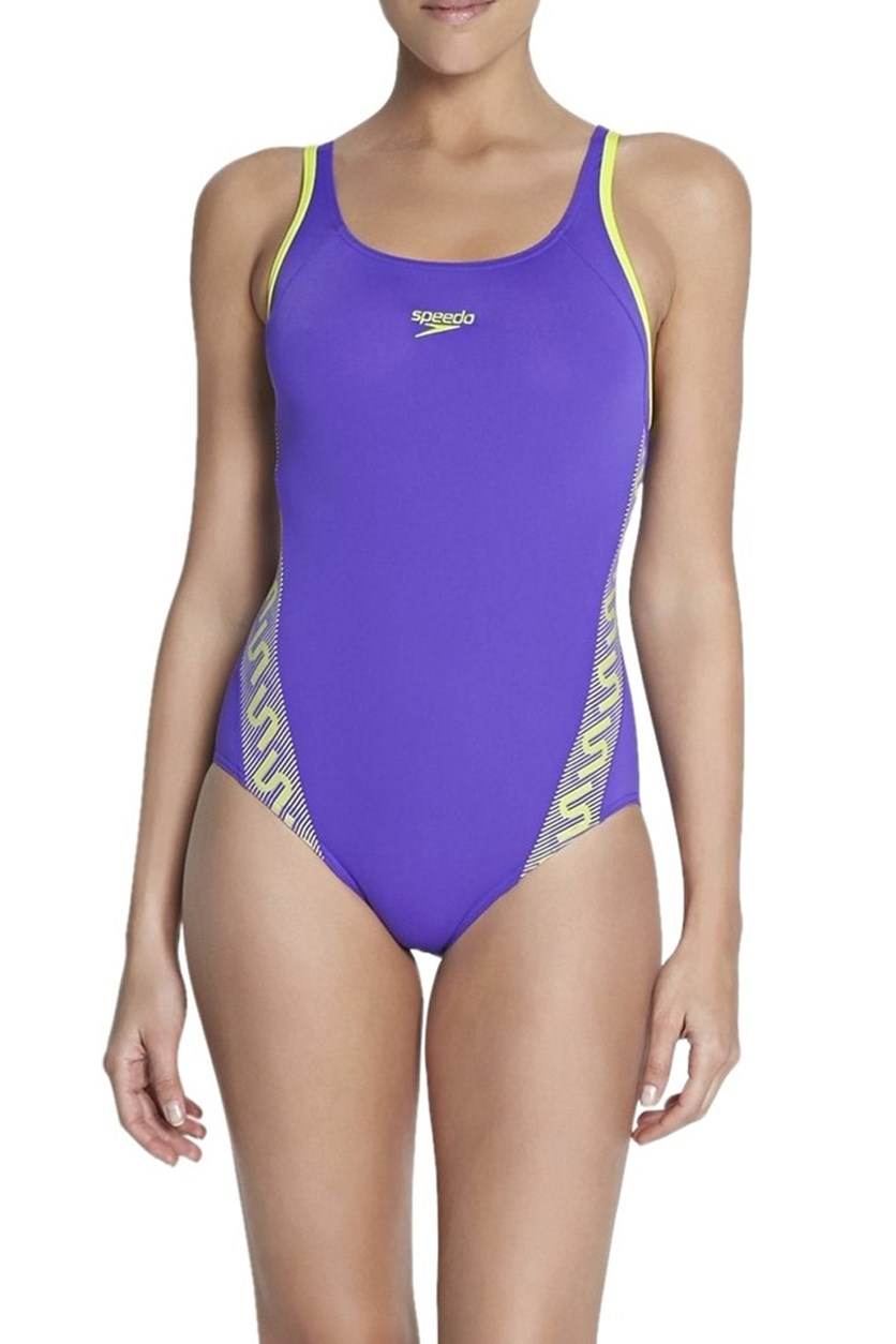 Monogram Muscleback Swimsuit, Purple