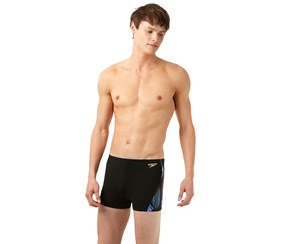Speedo Digi Curve Panel Boxershort, Black
