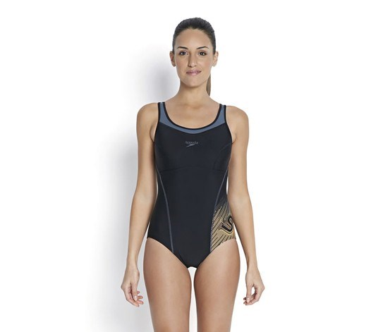 Fit Racerback Swimsuit, Black