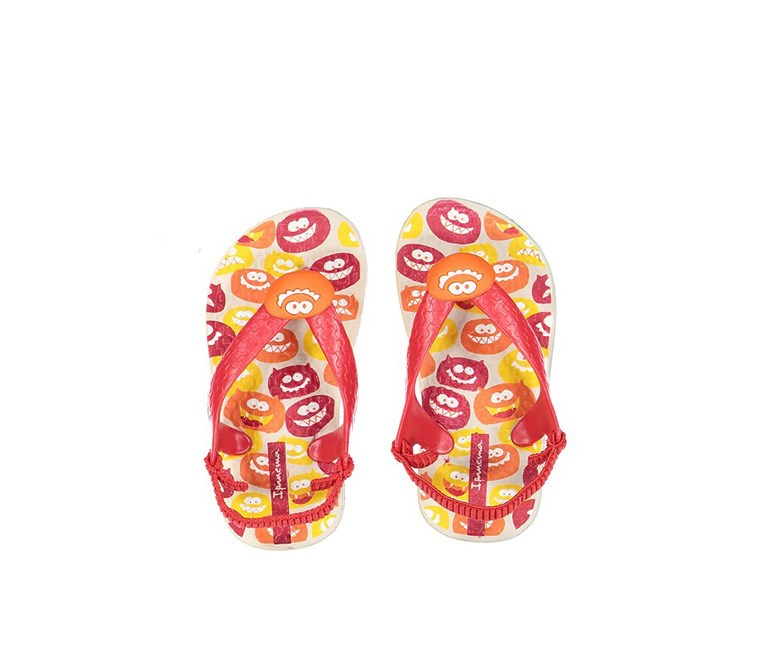 Temas II Baby Sandals, Beige/Red