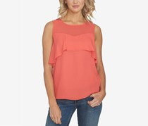 Illusion Flounce Top, Poppy Petal