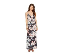 1.state Women's Spaghetti Strap Maxi Dress, Ebony