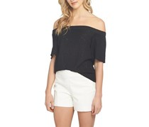 1.STATE Textured Off-The-Shoulder Top, Rich Black