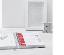 A5 With Calendar For 18 Months, Red