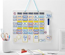 Magnetic Timetable, White Board