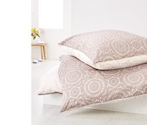 Reversible Renforce Duvet Set 135 x 200 cm, Beige