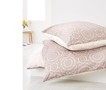Reversible Renforce Duvet Set 140 x 200 cm, Beige/Brown
