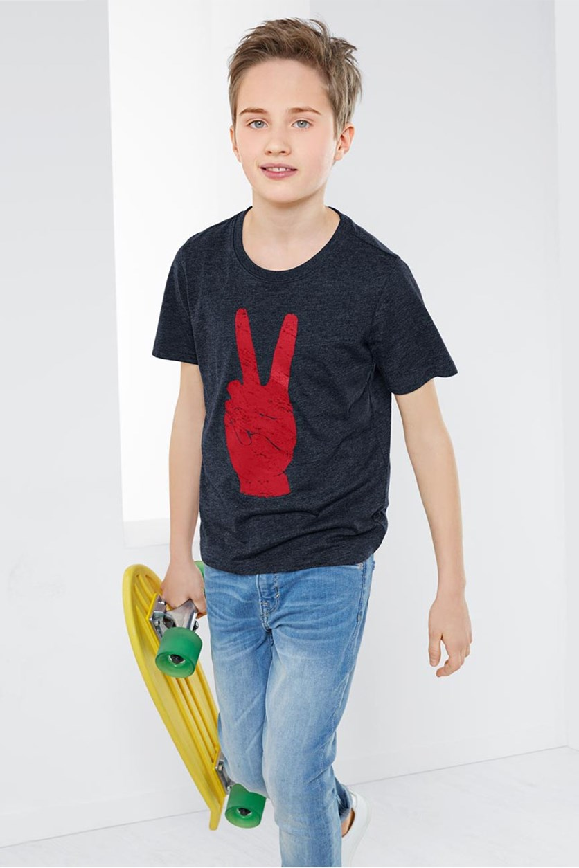 Boys Graphic T-Shirt, Dark Blue