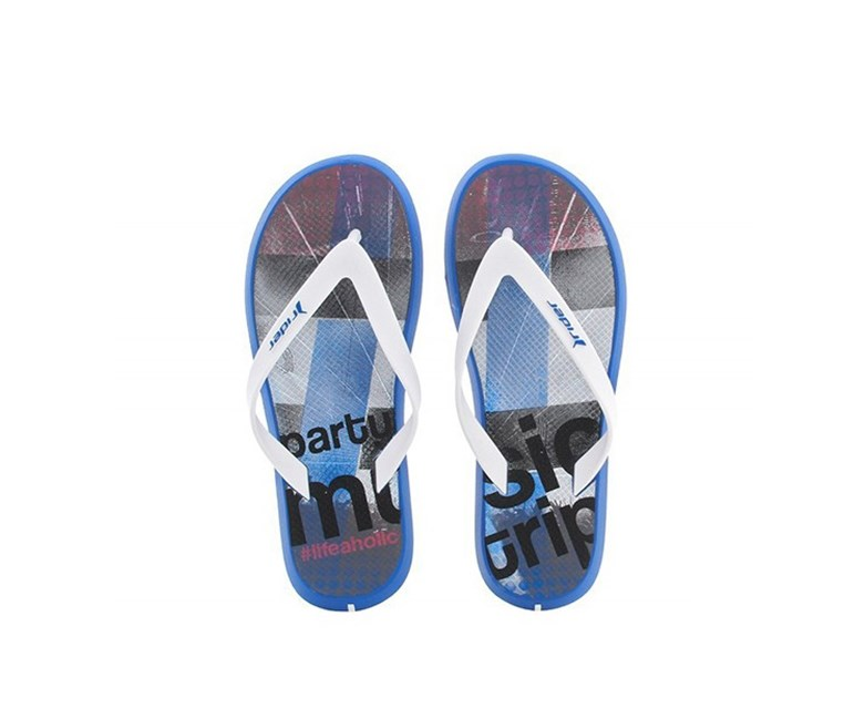 Slippers Men's Energy V Flip Flops, Blue/White