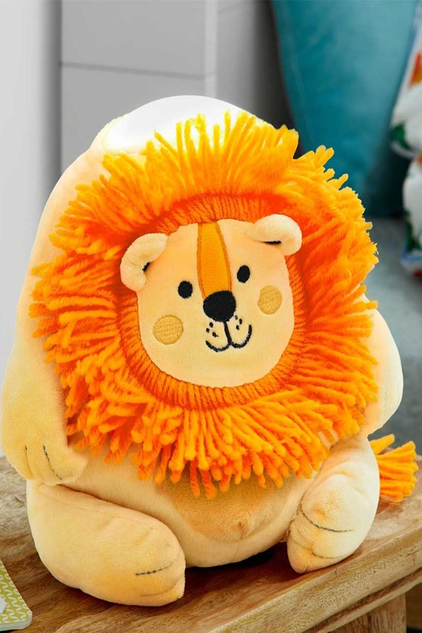 LED Night Light Lion, Yellow Orange