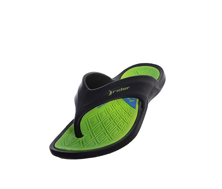 Boys Japanke Cpe VIII Slipper, Black/Green