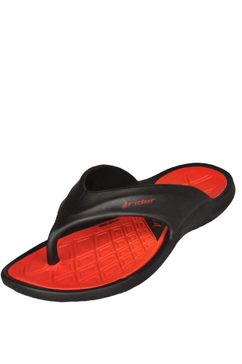 Boys Cape VIII Slipper, Black/Red