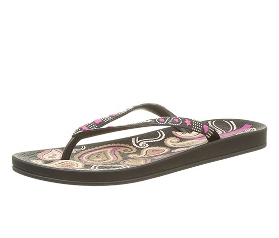 7c367c8c52b Shop iPANEMA Ipanema Women's Anat Lovely Slippers, Black/Pink for ...