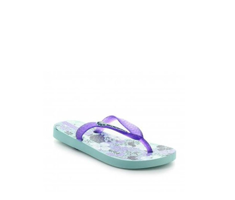 Theme X Slippers, Green/Lilac