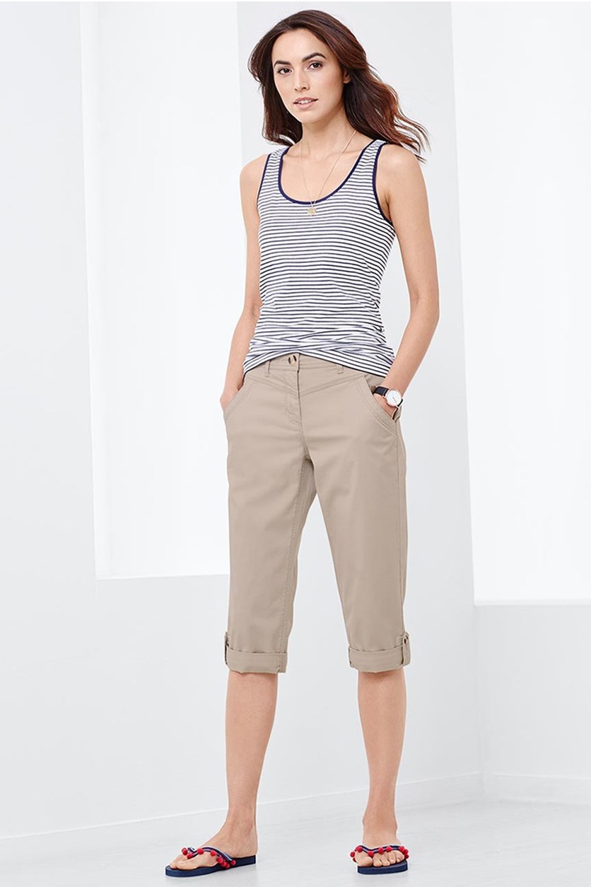 Women's 3/4 Capri Pants, Sand