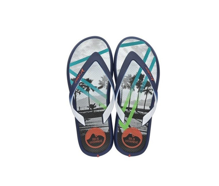 Men Flip Flop Rider  Energy VI Ad, Blue/White