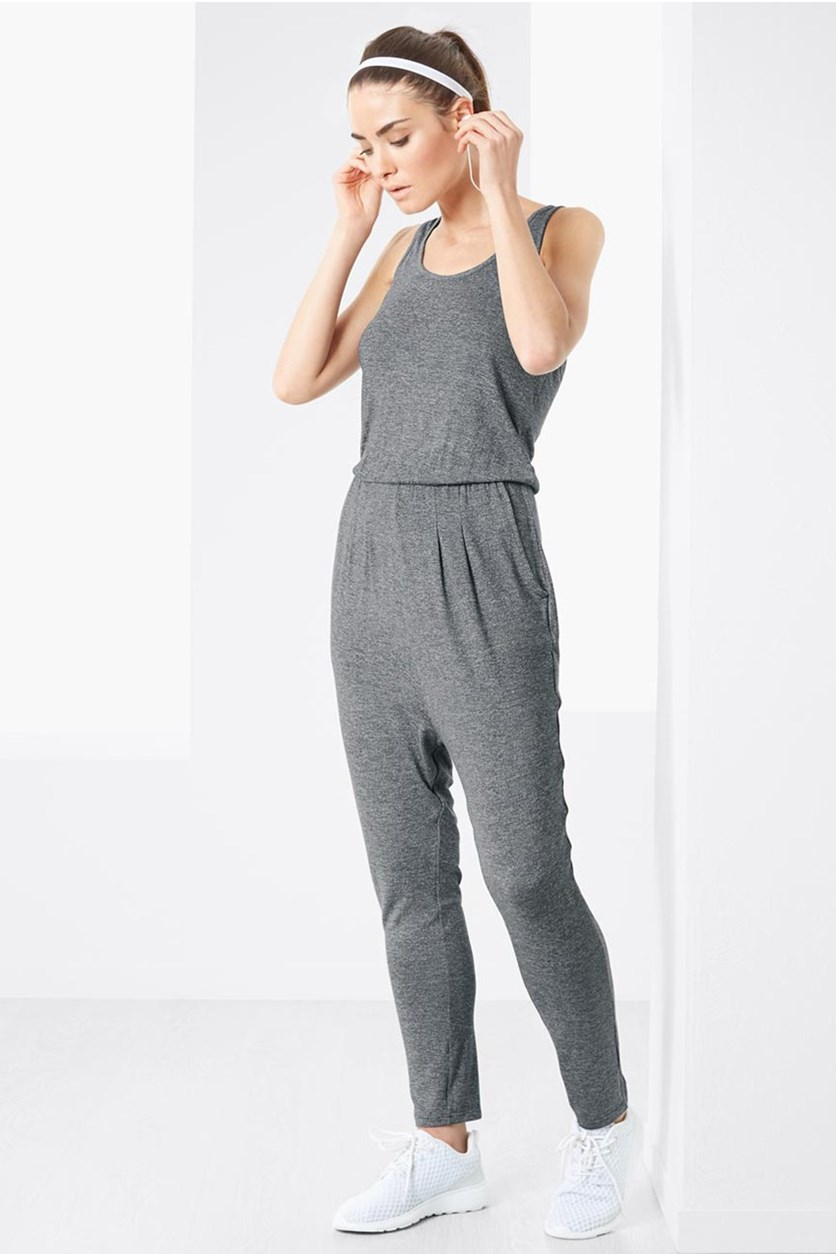 Women's Jumpsuit, Heather Grey
