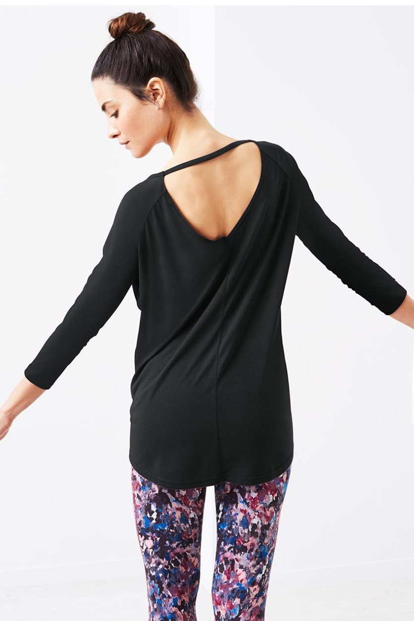 Women's Long Sleeve Shirt, Black