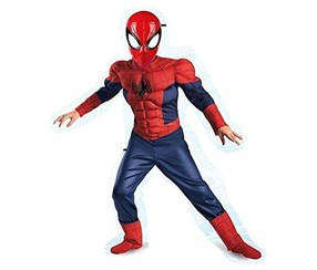 Classic Spiderman Deluxe Dress Up Set Costume, Red/Blue