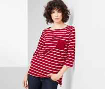Women's 3/4 Sleeve Shirt, Red