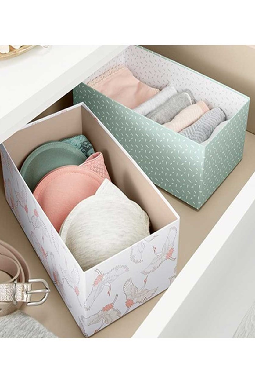 Drawer Organiser, Mint/Offwhite Taupe