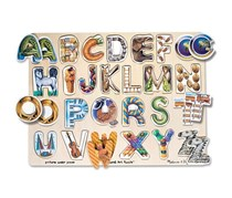 Melissa And Doug Alphabet Art Puzzle, Natural Combo