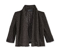 Sequin Hearts Knit Cardigan, Black