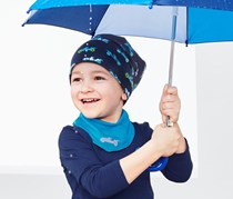 Toddlers Hat and Scarf, Blue