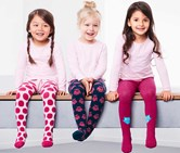 Toddlers Tights Set of 3, Pink/Blue