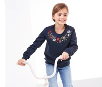 Girls Sweatshirt, Navy