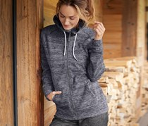 Women's Thermal Fleece Hoody, Grey Heather