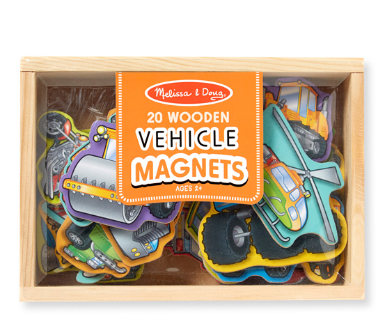 Melissa and Doug Wooden Vehicle Magnets - Brands For Less