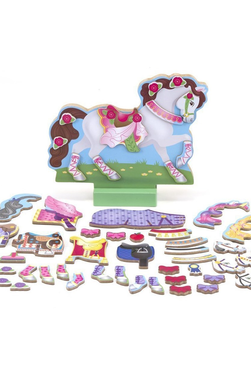 My Horse Clover Magnetic Dress Up, White/Pink