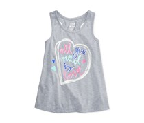 Max Olivia Graphic-Print Tank, Grey