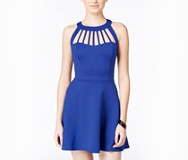 Trixxi Juniors' Flared Cutout Dress, Royal
