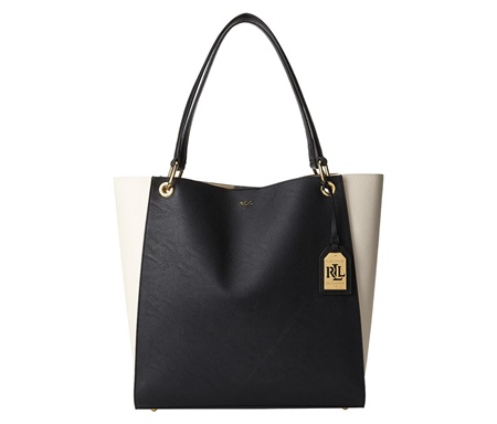 Shop Ralph Lauren Ralph Lauren Aiden N S Tote Ivory Black for Bags in  United Arab Emirates - Brands For Less bbb18218e9237